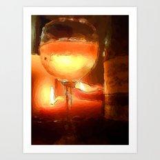 Light Wine Art Print