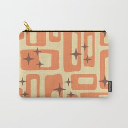 Retro Mid Century Modern Abstract Pattern 577 Orange Brown Carry-All Pouch