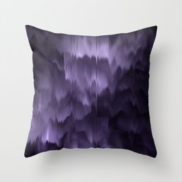 Purple and black. Abstract. Throw Pillow