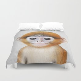 Baby Monkey - Colorful Duvet Cover