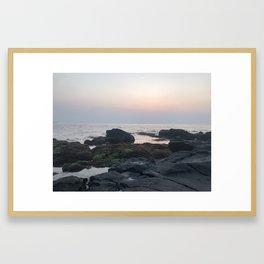 Jeju Ocean Sunset Framed Art Print