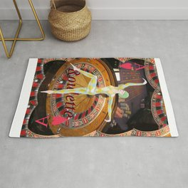 Lady Luck art deco roulette  Rug