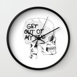 Get Out Of My Head Wall Clock