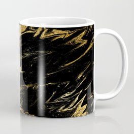 Luxury and sparkle gold glitter and black marble Coffee Mug