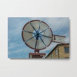 U.S. Wind Engine and Pump Company Model -E Wooden Windmill Batavia Illinois Metal Print