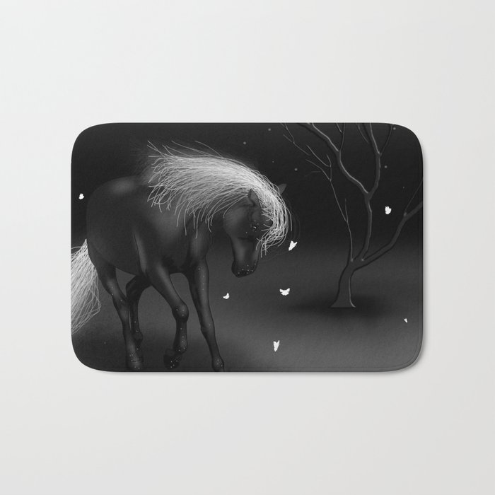 Black Horse Bath Mat