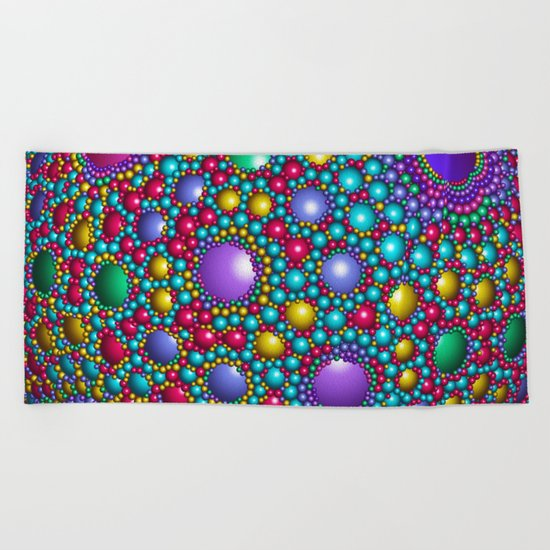 Colored balls Beach Towel