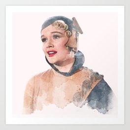 Lina Lamont - Jean Hagen - Singin' in the Rain - Watercolor #2 Art Print