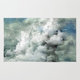 You must not blame me if I do talk to the clouds Rug