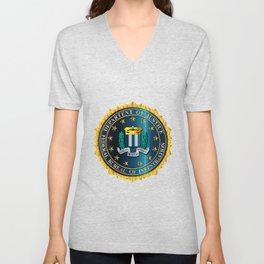 FBI Seal Mockup Unisex V-Neck