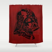 darth vader Shower Curtains featuring Darth Vader by Oddesign