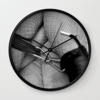 bondage Wall Clocks featuring Vintage Bondage by davehare