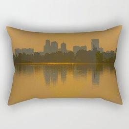 Come Sit With Me At Sloan Lake Downton Denver Colorado Rectangular Pillow