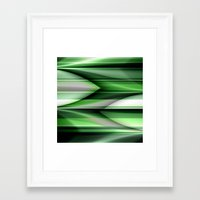 green pattern Framed Art Prints featuring Pattern green by Christine baessler