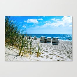behind the dunes Canvas Print