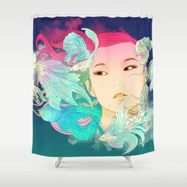 Fish Lady Shower Curtain