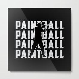 Paintball Airsoft Gotcha Softair Shoot Gift Idea Metal Print