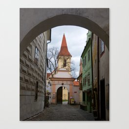 Little Town Czech Republic Canvas Print