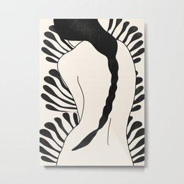 Abstract Art Nude Woman Metal Print
