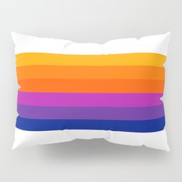 Bright Rainbow / Straight Pillow Sham