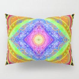 losange-geometry-baby art-bright colors-joy and energy-imagination-nursery art-hand painted Pillow Sham