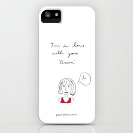 I´m in love with your brain iPhone Case
