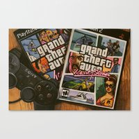 gta v Canvas Prints featuring GTA vice by Steph Sauerbier