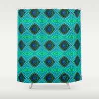 aqua Shower Curtains featuring Aqua by gretzky