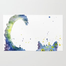 Colorful Cat Rug