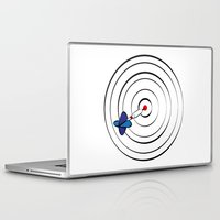 chicago bulls Laptop & iPad Skins featuring Bulls Eye by Nivedhna