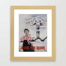 Nuclear Warfare in North Korea Framed Art Print