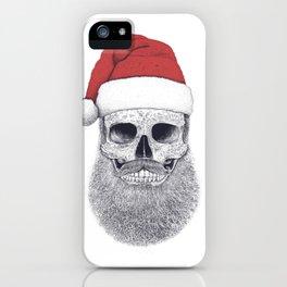 Santa skull iPhone Case