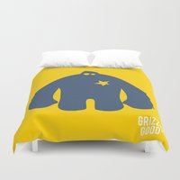 bigfoot Duvet Covers featuring Bigfoot Logo by Grizzly Good