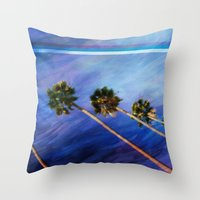 palms Throw Pillows featuring Palms by Psocy Shop