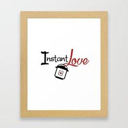 Instant Pressure Cooker Pot Love Framed Art Print