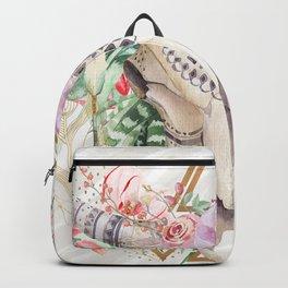Skull boho and triangles Backpack