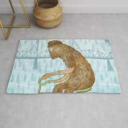 Dirty Wet Bigfoot Hipster Rug