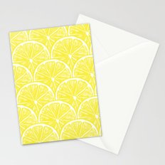 Lemon slices pattern design II Stationery Cards