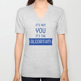 Social Media Algorithm Blues Unisex V-Neck