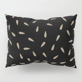 Brown Kraft Water Drops on Black Background Pillow Sham