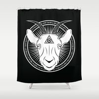 goat Shower Curtains featuring Goat by JaymesGraphics