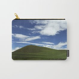 Bright blue sky, green land. Carry-All Pouch