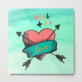 Love Heart Art Metal Print