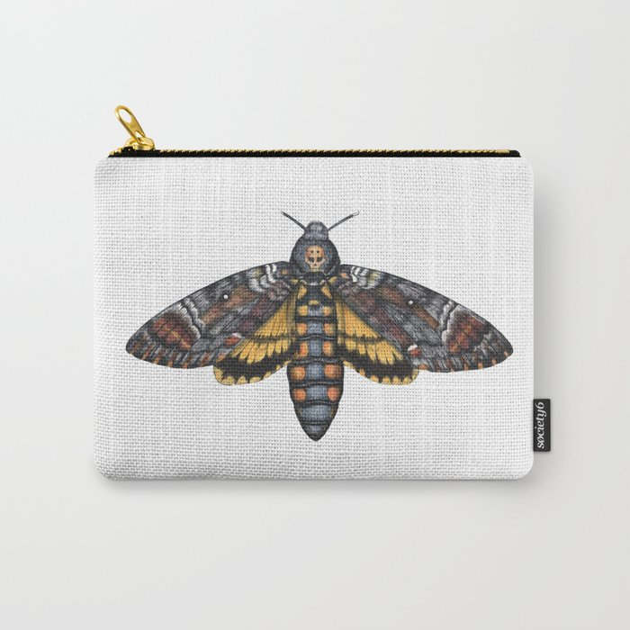African Death's Head Hawkmoth (Acherontia atropos) Carry-All Pouch