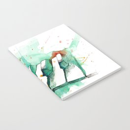 Watercolor Piano (Teal) Notebook