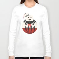 ghostbusters Long Sleeve T-shirts featuring Ghostbusters by Bill Pyle