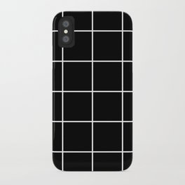 BLACK AND WHITE GRID iPhone Case