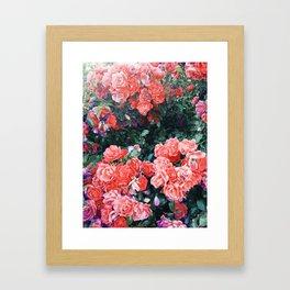 Psychedelic summer florals Framed Art Print