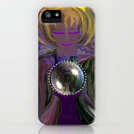 Gypsy and her Crystal Ball-abstract iPhone Case