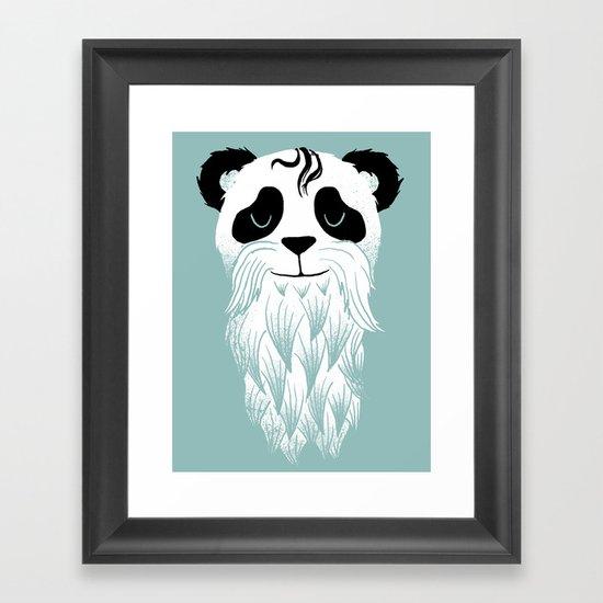 Panda Beard Framed Art Print